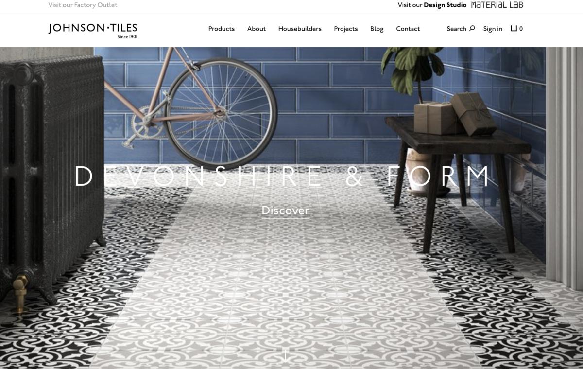Fliesen der Firma Johnson Tiles in Deutschland