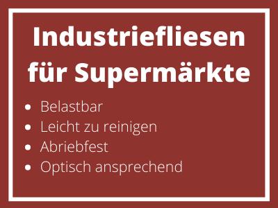 Industriefliesen für Supermärkte