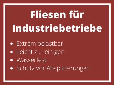 Fliesen für Industriebetriebe