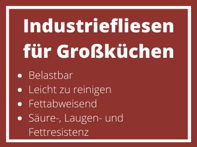 Industriefliesen für Großküchen