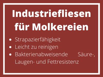 Industriefliesen für Molkereien